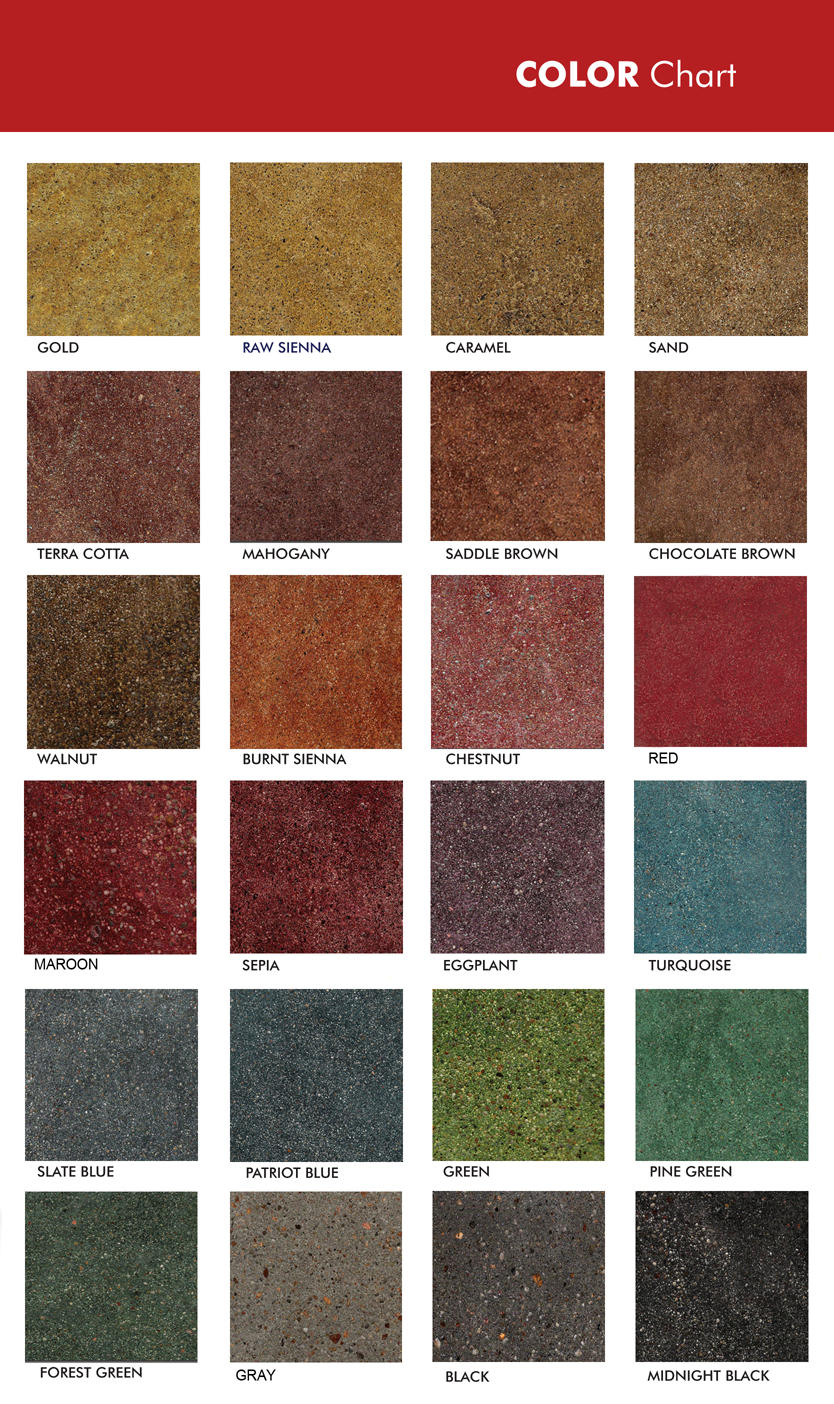 Dye Stain Color Options Sdscolorchart